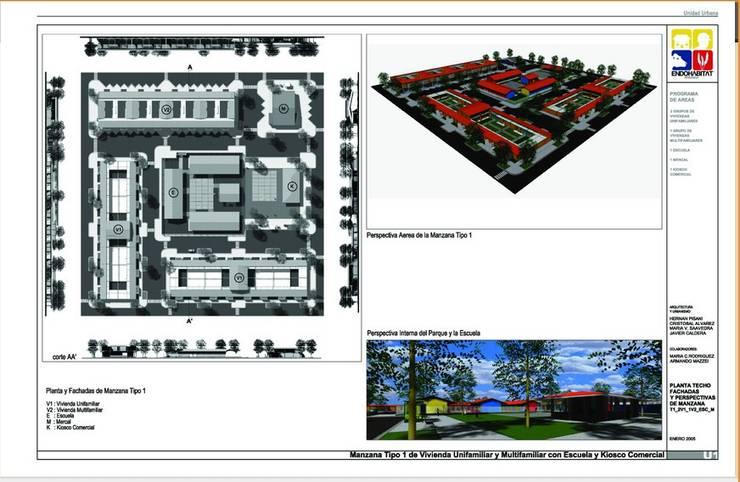 Meccano Urbano: Casas de estilo  de CADOT