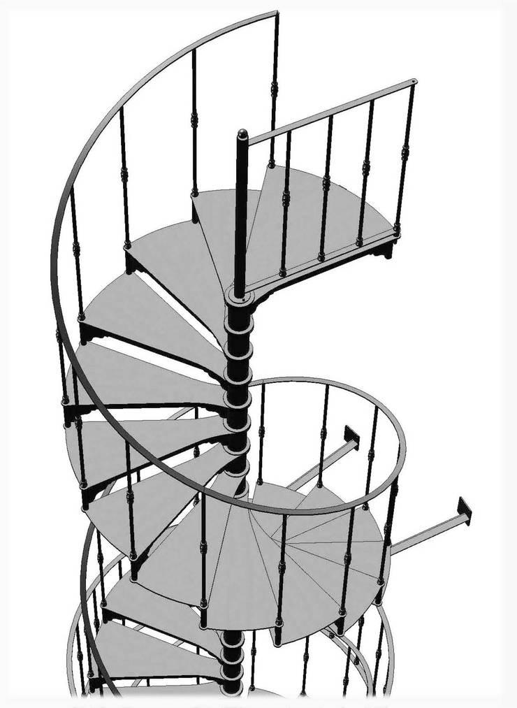 Chidea in ferro ossidato : Casa in stile  di h-project.it,