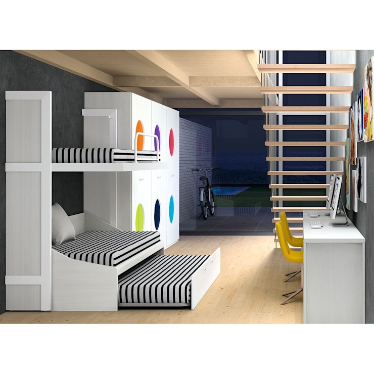 Dormitorio juvenil Nautilus de Dissery: Habitaciones infantiles de estilo  de Ociohogar