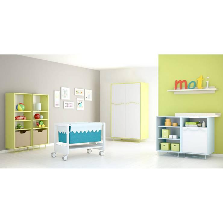 Minicuna Pico de Moti: Habitaciones infantiles de estilo  de Ociohogar