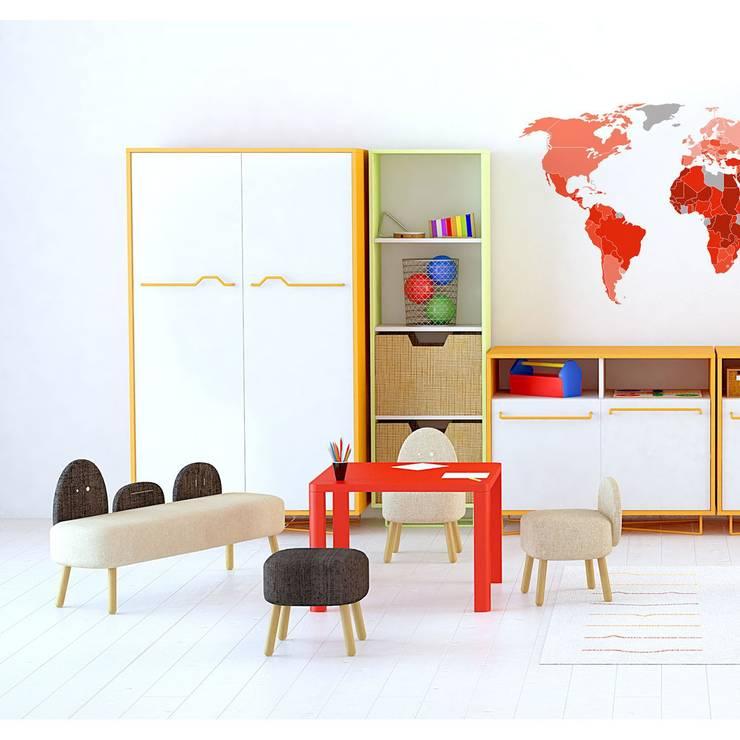 Dormitorio infantil de Moti: Habitaciones infantiles de estilo  de Ociohogar