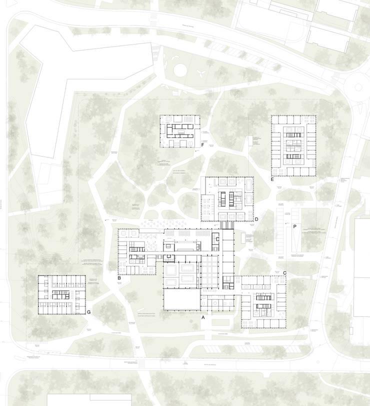 Conseil œcuménique des Églises – GREEN VILLAGE:  de style  par LRS Architectes