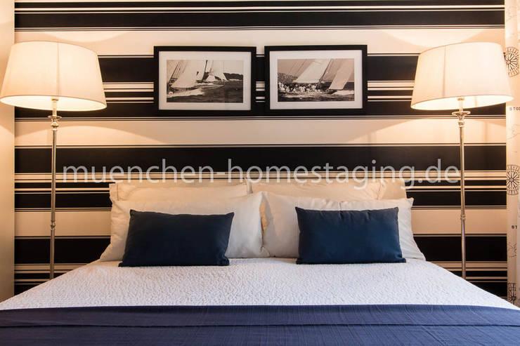 Maritimes Schlafzimmer:  Schlafzimmer von Münchner HOME STAGING Agentur,
