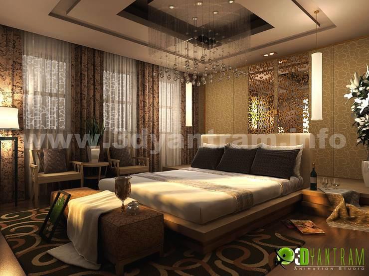 3D interni maestro classica camera da letto design studio:  in stile  di 3D Yantram studio di animazione
