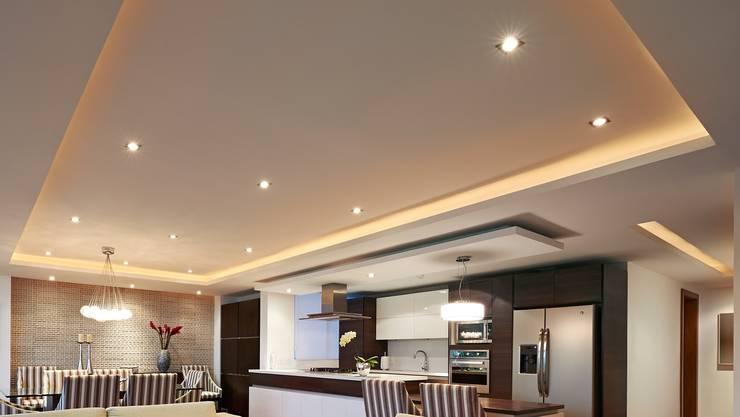 Lichtdecken in Wohnraum und / oder Küche :   von WERKRAUM & PLAN MÜNCHEN,