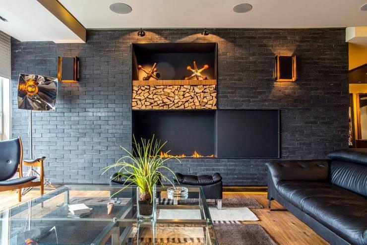 غرفة المعيشة تنفيذ Sobrado + Ugalde Arquitectos