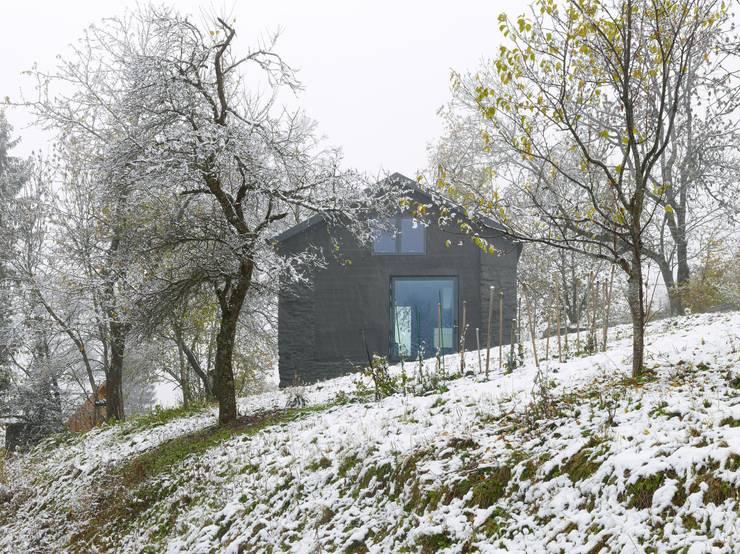 Maison Savioz, La Giète-Délé: Maisons de style  par savioz fabrizzi architectes