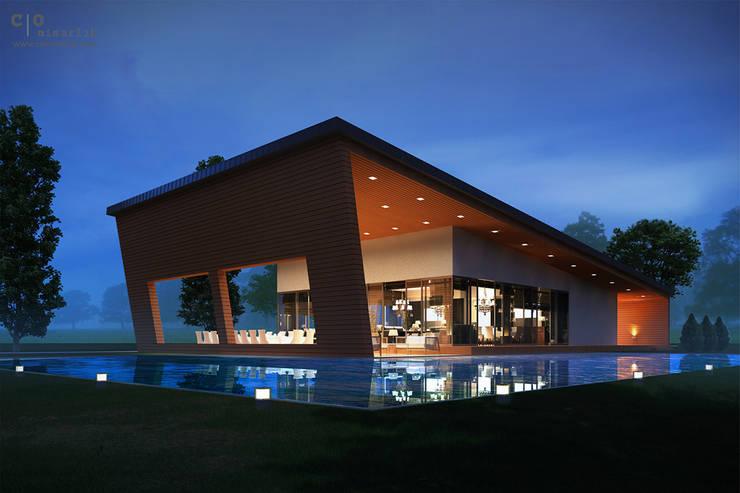 CO Mimarlık Dekorasyon İnşaat ve Dış Tic. Ltd. Şti. – O.S. Çalışma Ofisi:  tarz Evler, Modern