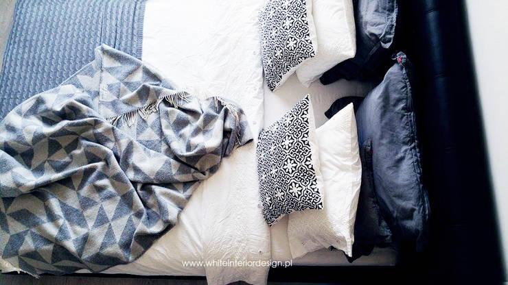 White Interior Design의  침실