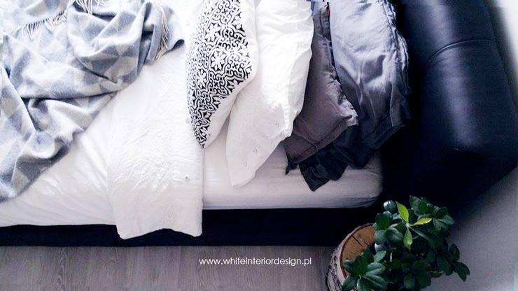 Sypialnia loftowo-skandynawska: styl , w kategorii Sypialnia zaprojektowany przez White Interior Design