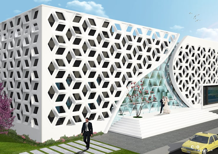CO Mimarlık Dekorasyon İnşaat ve Dış Tic. Ltd. Şti. – Taç Mahal Düğün Sarayı: modern tarz Evler