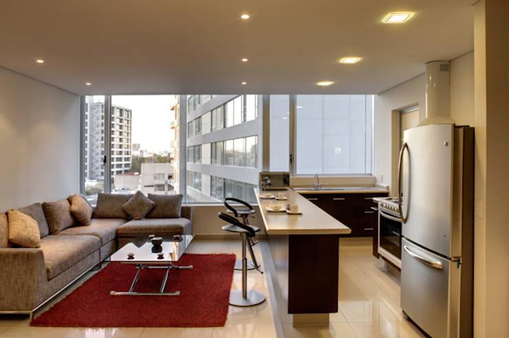 Residencial WTC México D. F.: Hogar de estilo  por Illux de México