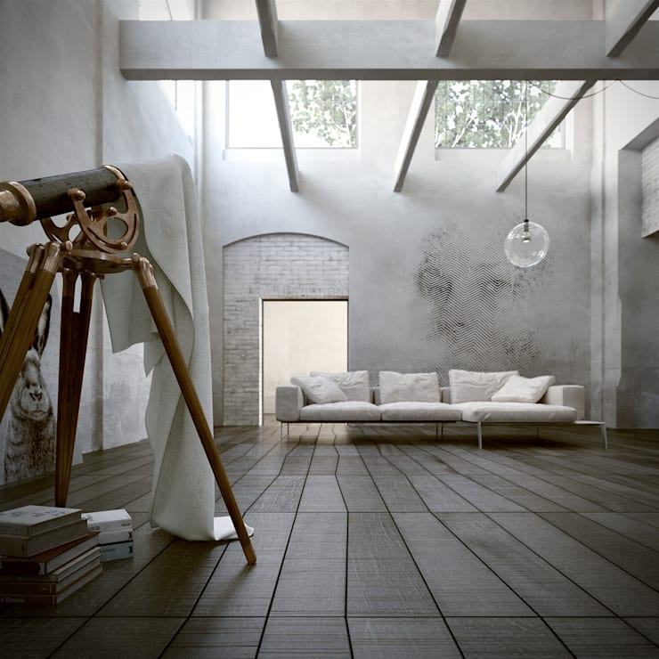 Telescope Room: Casa in stile  di ENGRAM STUDIO - Virtual Sets portfolio
