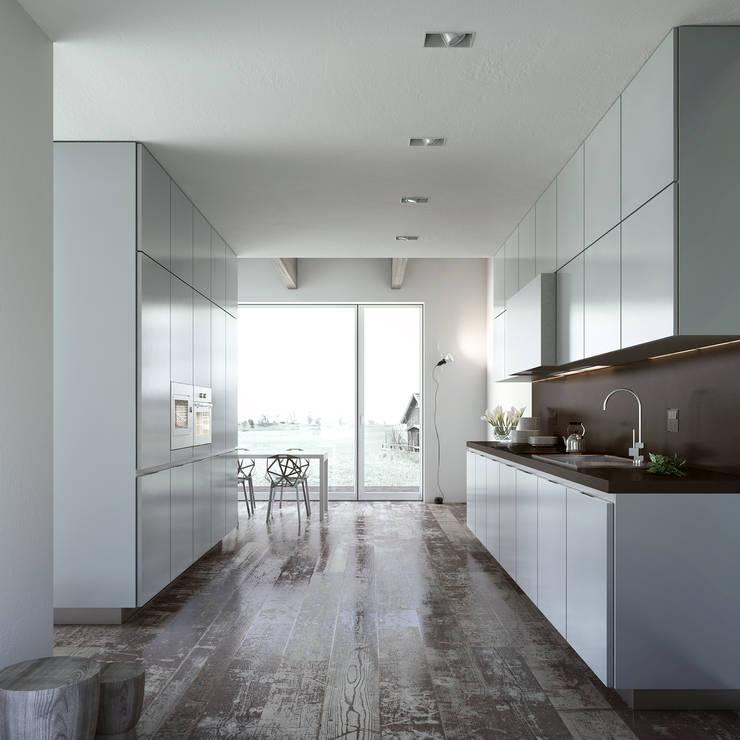 Alea Kitchen: Cucina in stile  di ENGRAM STUDIO - Virtual Sets portfolio