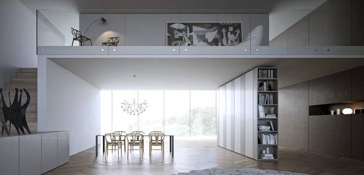 Caccaro wardrobe: Camera da letto in stile  di ENGRAM STUDIO - Virtual Sets portfolio