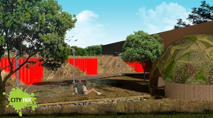 Domo sustentable vista exterior: Jardines de estilo  por City Ink Design