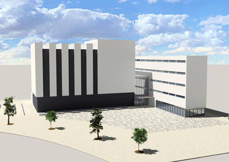 Casa de la cultura en A Bir El Djir, Argelia: Escuelas de estilo  de TAMA ESTUDIO