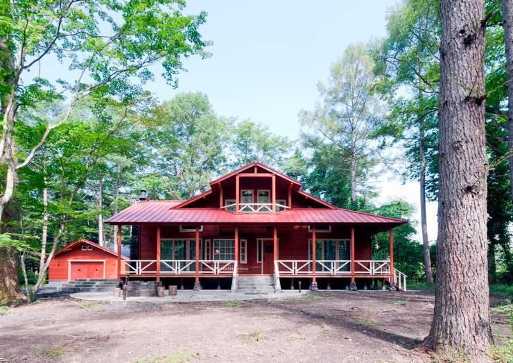 F山荘 外観2: 一粒社ヴォーリズ建築事務所が手掛けた家です。