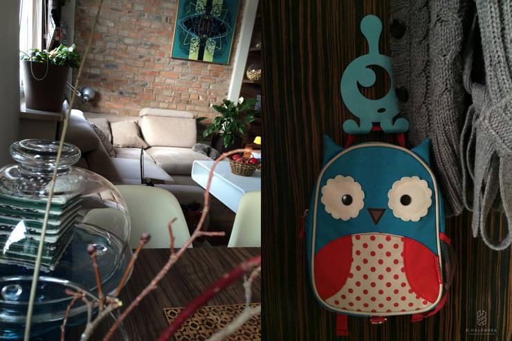 Mieszkanie 1/9: styl , w kategorii Salon zaprojektowany przez k.halemska,Nowoczesny