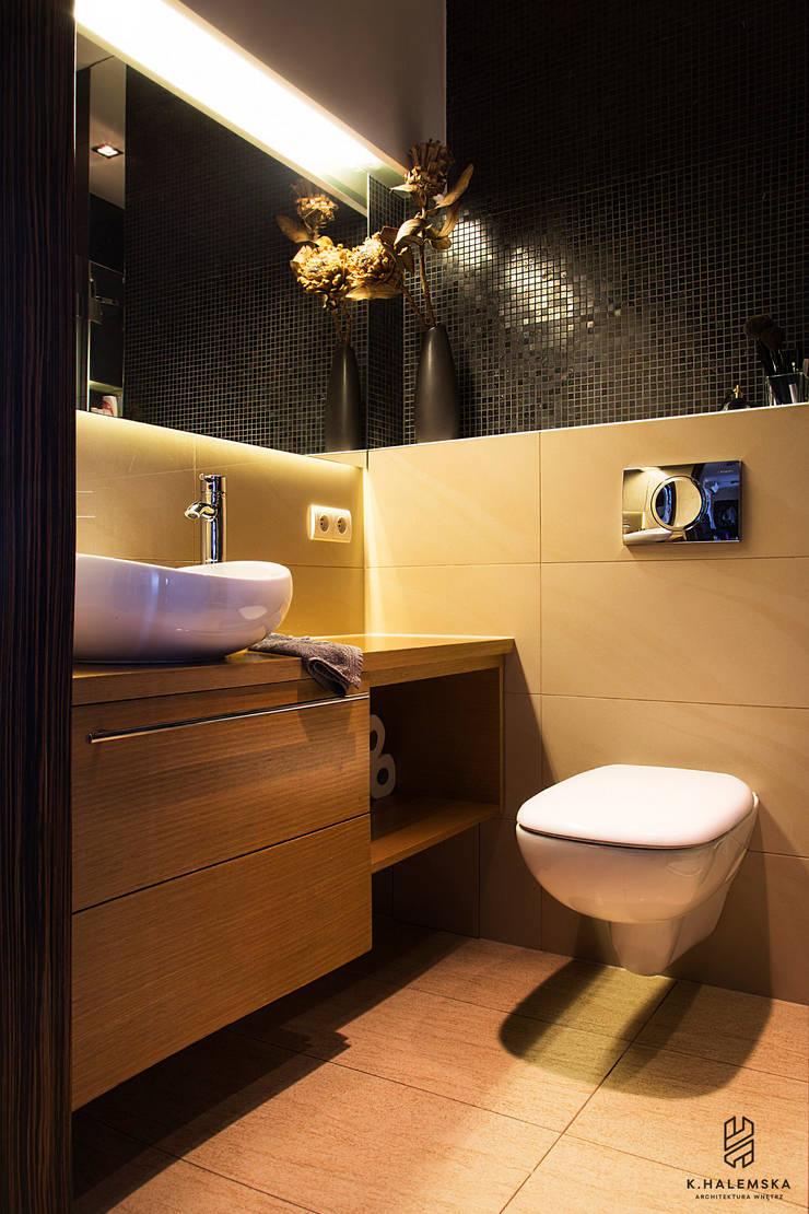 Mieszkanie 1/9: styl , w kategorii Łazienka zaprojektowany przez k.halemska,Nowoczesny