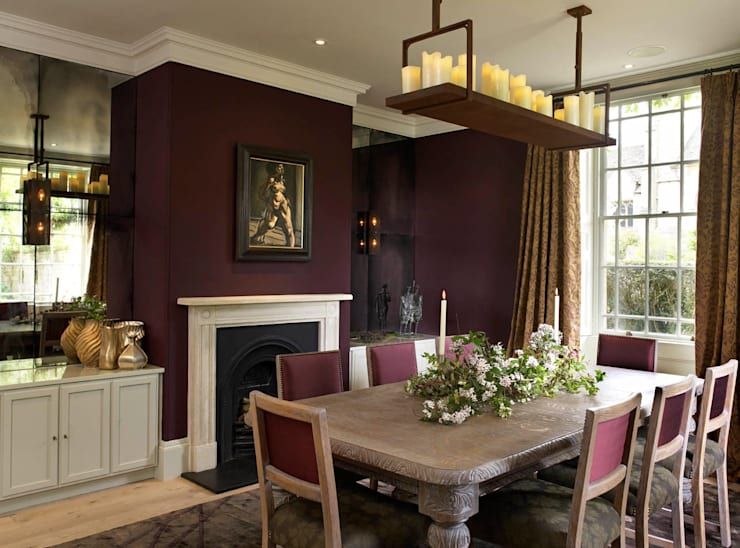 Formal Dining Room, The Wilderness, Wiltshire, Concept Interior:  Dining room by Concept Interior Design & Decoration Ltd