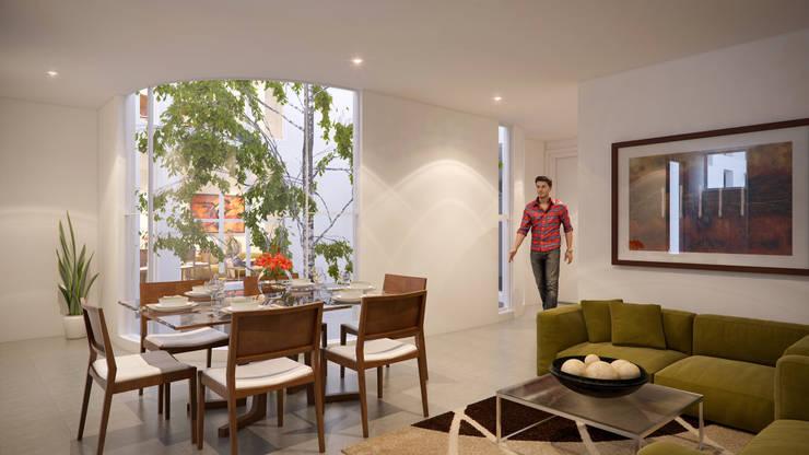 Interior  departamento: Casas de estilo moderno por RECON Arquitectura
