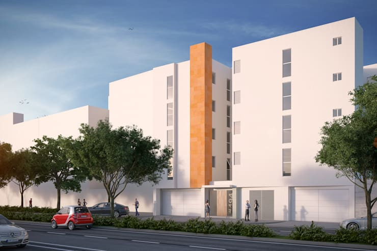 Fachada Principal II: Casas de estilo moderno por RECON Arquitectura