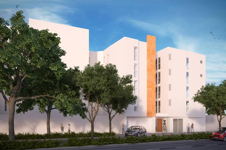 Fachada Principal: Casas de estilo moderno por RECON Arquitectura