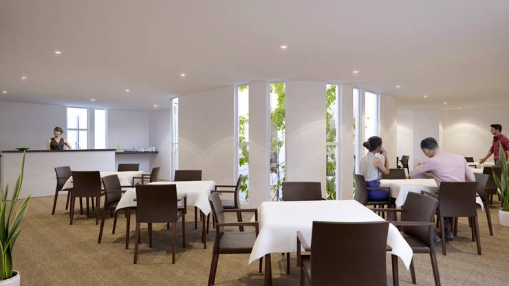 Salon de usos múltiples: Casas de estilo moderno por RECON Arquitectura