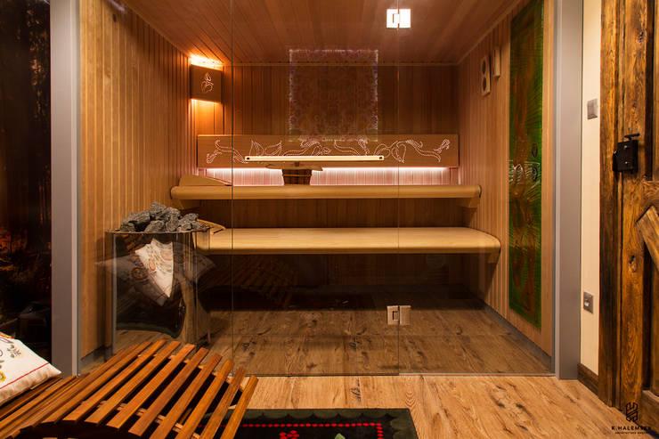 Projekt 48 _  sauna: styl , w kategorii Spa zaprojektowany przez k.halemska,