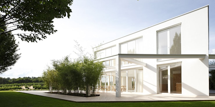 Projekty,  Domy zaprojektowane przez brandl architekten . bda