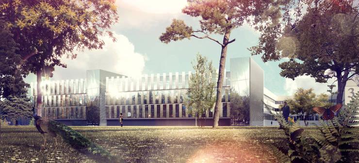 Laboratoires de L'école Polytechnique à Palaiseau:  de style  par Atelier Michel Remon