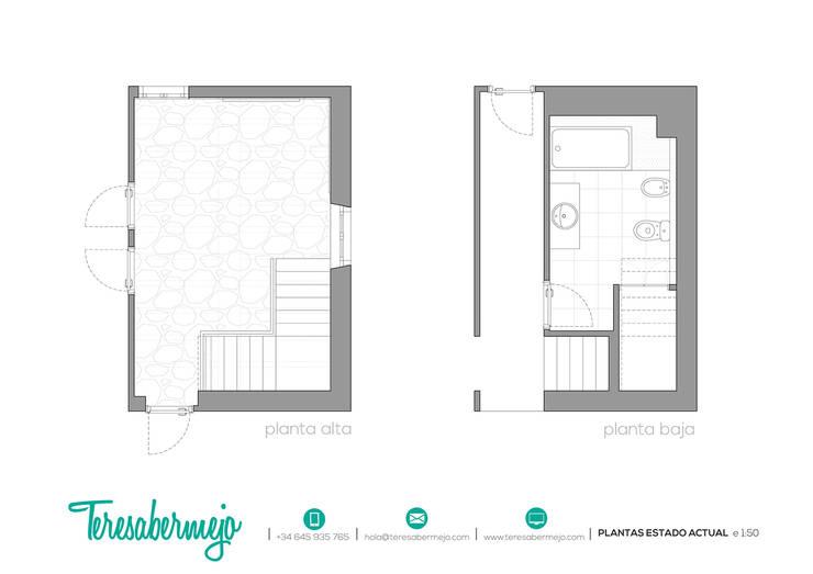 Plantas estado actual:  de estilo  de  Diseñadora de Interiores, Decoradora y Home Stager