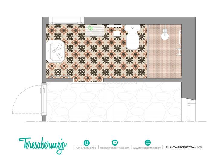 Planta propuesta:  de estilo  de  Diseñadora de Interiores, Decoradora y Home Stager