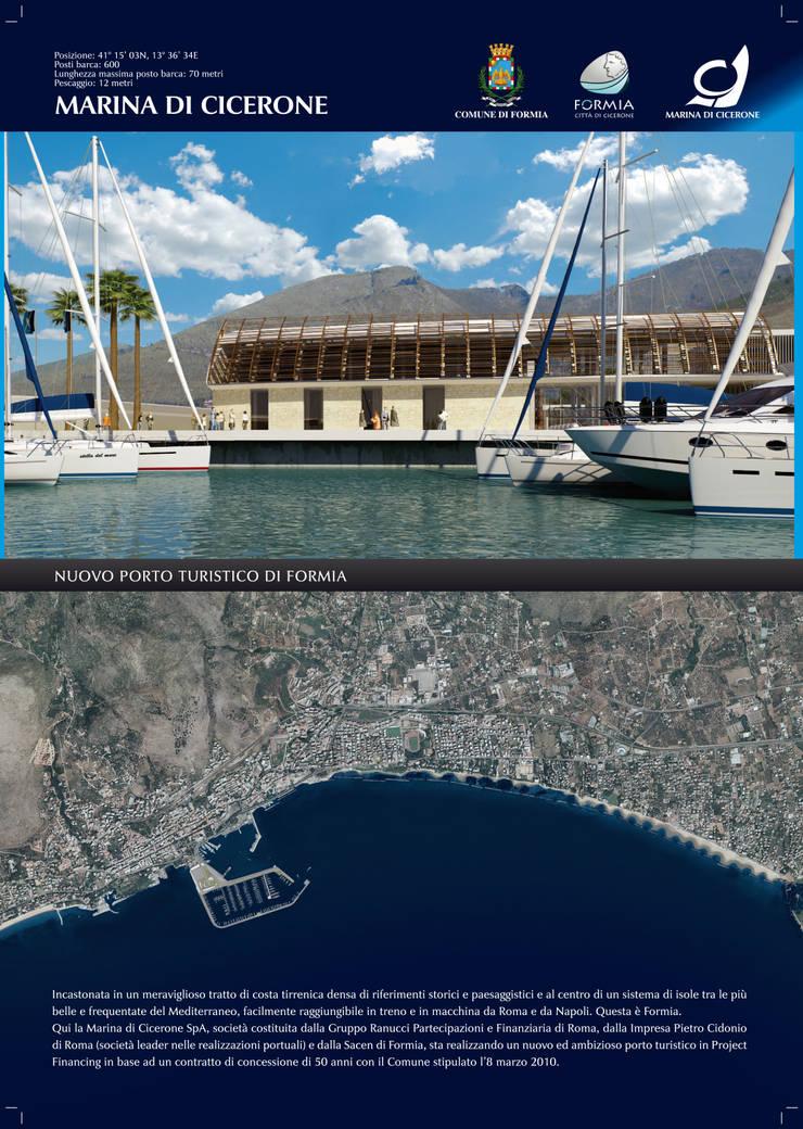 NUOVO PORTO TURISTICO DI FORMIA : Negozi & Locali Commerciali in stile  di Z5A zerocinquearchitetture,