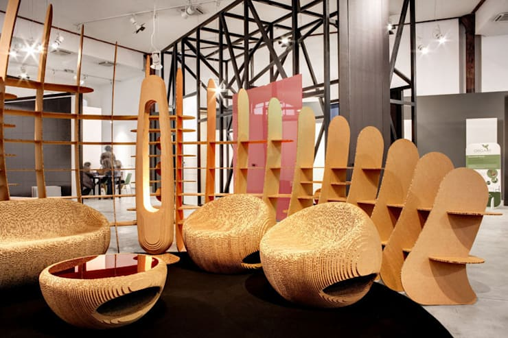 Recyclable Planet: Allestimenti fieristici in stile  di Giancarlo Zema Design Group