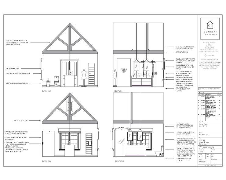 Detailed room elevations:   by Concept Interior Design & Decoration Ltd