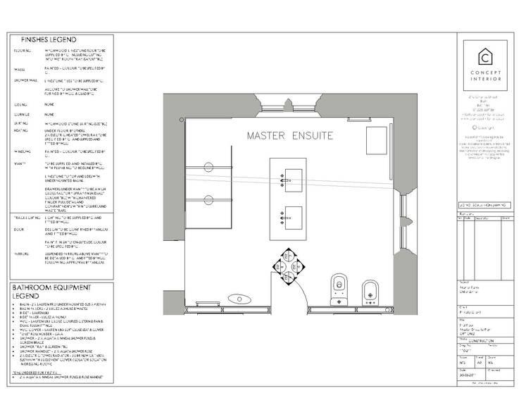 Bathroom floor plan:   by Concept Interior Design & Decoration Ltd