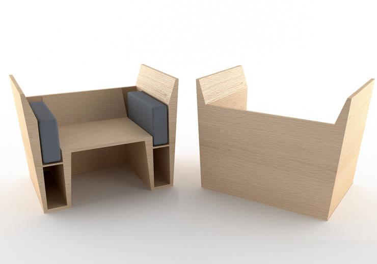 Modalità uno - fronte/retro: Soggiorno in stile  di Architetto Paola Cocco