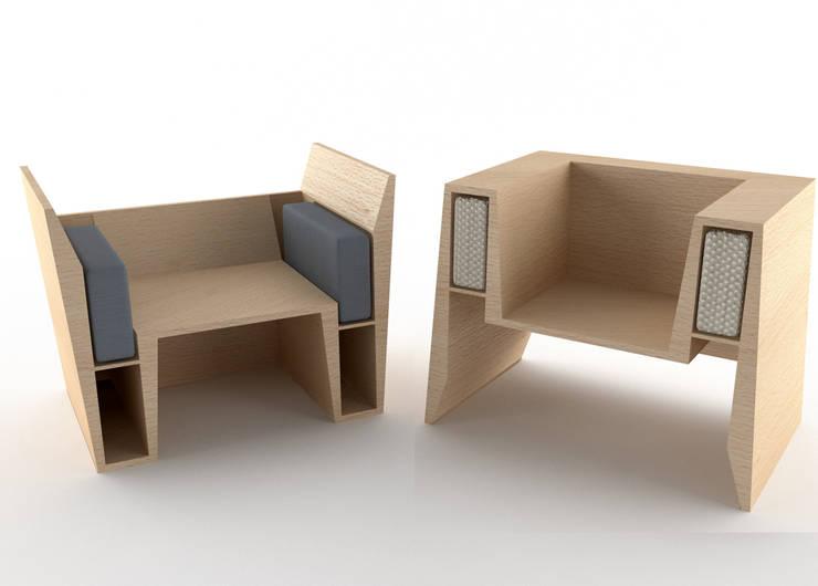 Due modalità di utilizzo: Soggiorno in stile in stile Moderno di Architetto Paola Cocco