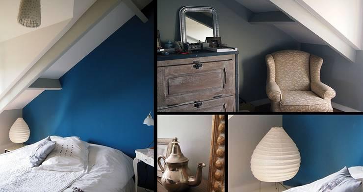UNE MISE EN COULEUR POUR PERSONNALISER L'ESPACE:  de style  par Céline Pansieri - Décoration d'intérieur