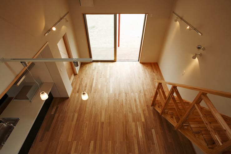 鶴居の家: 辻建築設計室が手掛けたリビングです。