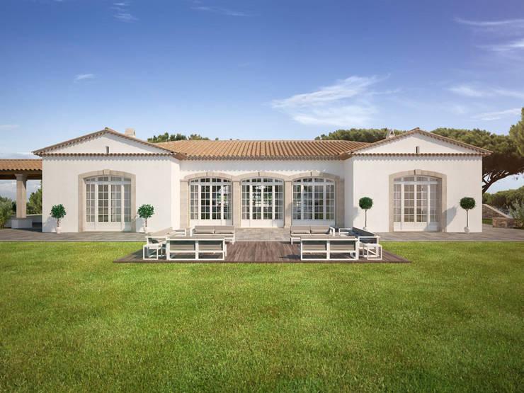 Projekty,  Domy zaprojektowane przez Berga&Gonzalez - arquitectura y render