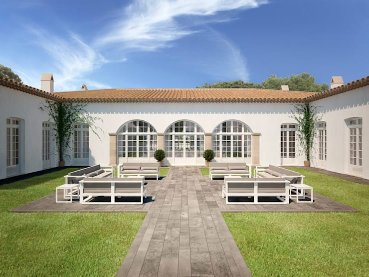 منازل تنفيذ Berga&Gonzalez - arquitectura y render