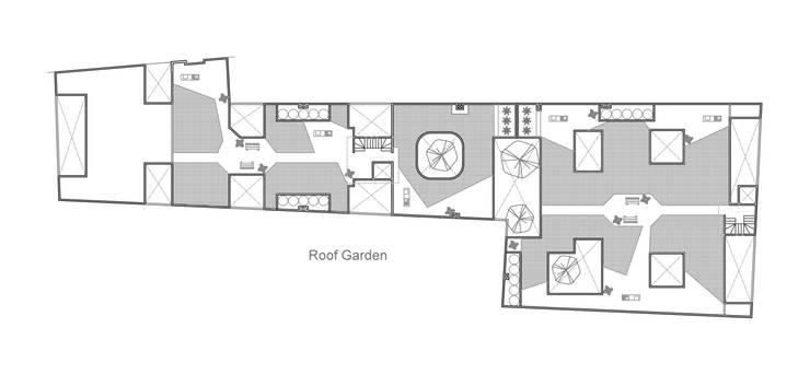 Planta Roof Garden: Casas de estilo moderno por RECON Arquitectura
