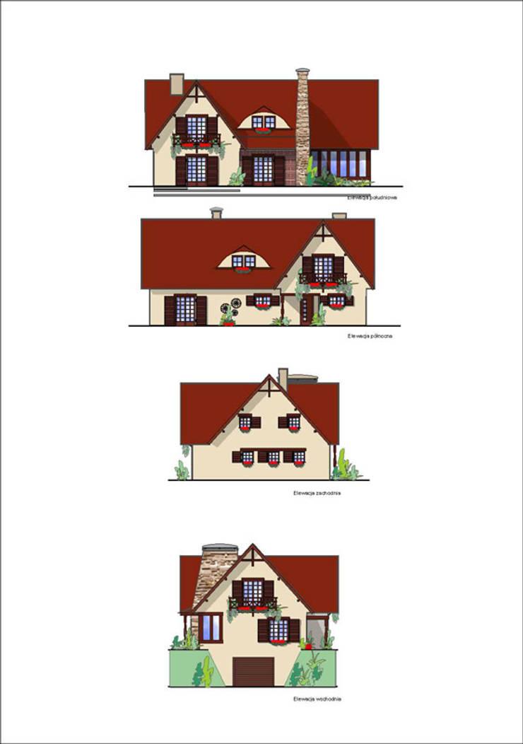 Projekt elewacji: styl , w kategorii  zaprojektowany przez Heliolux Design,