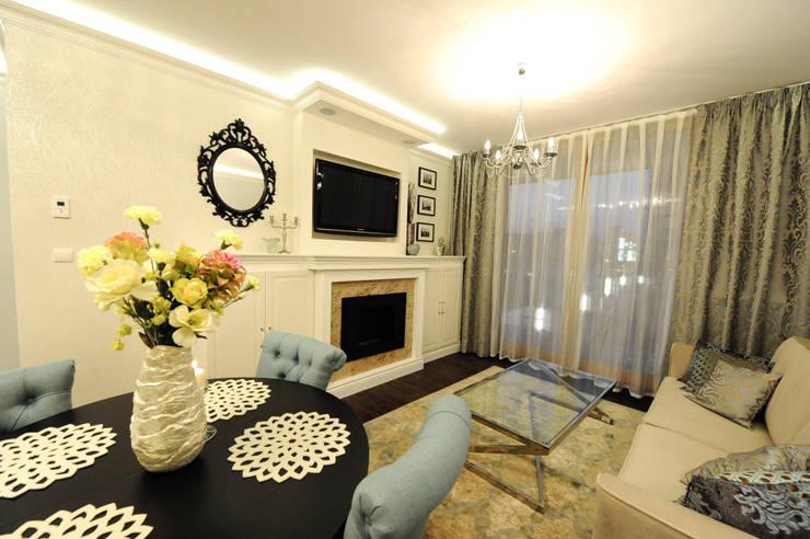 Apartament na Kazimierzu: styl , w kategorii Salon zaprojektowany przez AgiDesign