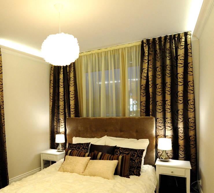 Apartament na Kazimierzu: styl , w kategorii Sypialnia zaprojektowany przez AgiDesign