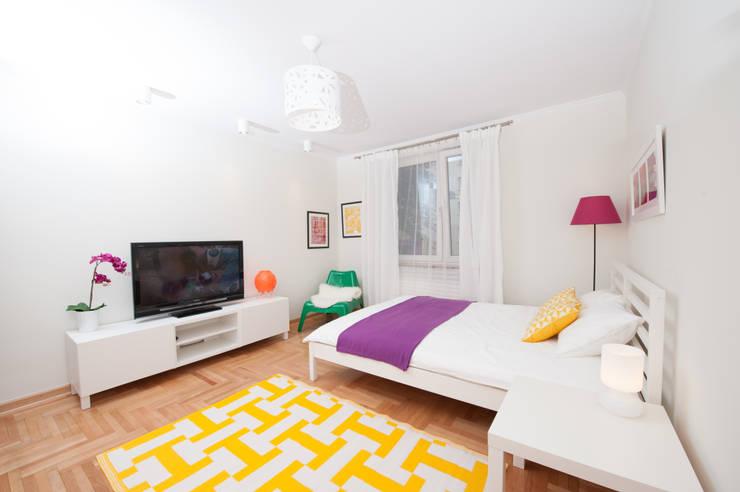 Fresh&Fruity: styl , w kategorii Sypialnia zaprojektowany przez AgiDesign