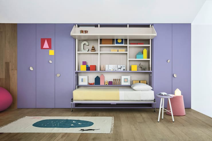 NIDI MOOVING : idee salvaspazio ROOM#1: Stanza dei bambini in stile in stile Moderno di Nidi